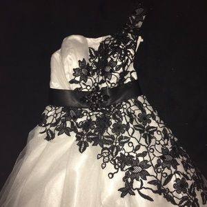 Never before worn black and white cocktail dress!